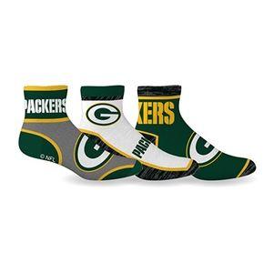 Green Bay Packers Socks Quarter Length 3 Pack